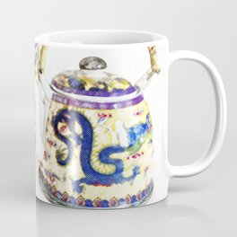 Time for tea. Delicate colors, Chinese tea set, retro look. Coffee Mug