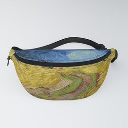 Wheat Field with Crows, Vincent Van Gogh Fanny Pack