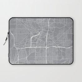 Akron Map, Ohio USA - Pewter Laptop Sleeve