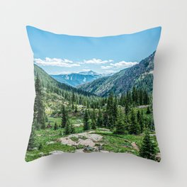 Colorado Wilderness // Why live anywhere else? Amazing Peaceful Scenery with Evergreen Dusted Hills Throw Pillow
