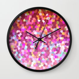 Mosaic Sparkley Texture G148 Wall Clock