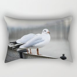Sitting on The Fence Rectangular Pillow