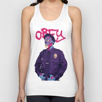 obey Tank Tops featuring OBEY by Mike Wrobel