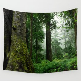 Light Fog in the Dense Forest Wall Tapestry