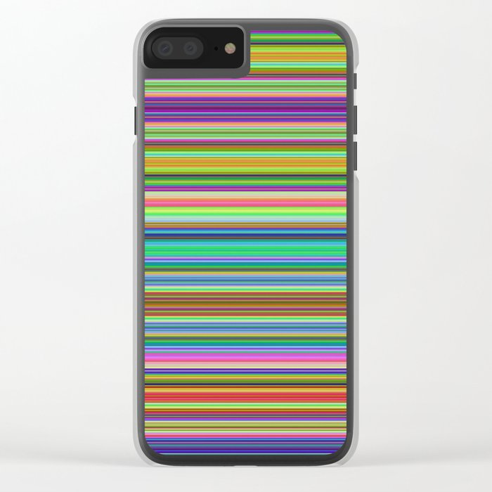 Summer Stripes – Clock 2 - Living Hell Clear iPhone Case