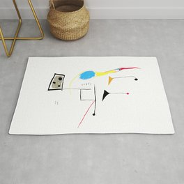Joan Miro Painting On White Ground, 1927 Artwork, Prints, Posters, Tshirts, Bags, Men, Women, Kids Rug