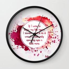 Jules Renard's quote Wall Clock