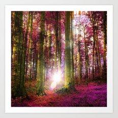 Range The Autumn Woods Art Print