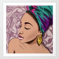 mcfreshcreates Art Prints featuring ADRIENNE by McfreshCreates