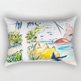 X voYages de Zed (toile 11 - série 1) Rectangular Pillow