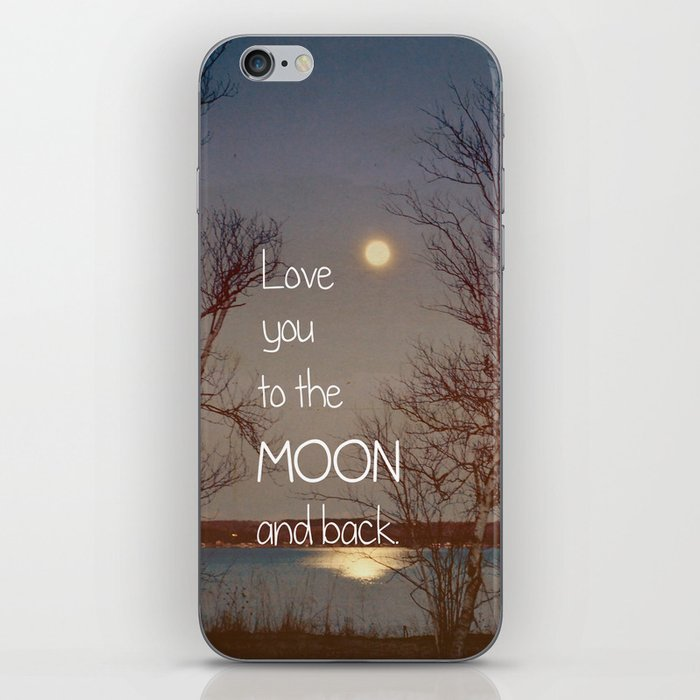 To the Moon and Back iPhone Skin
