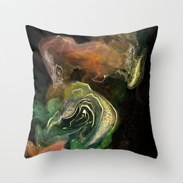 The Golden Galaxy Throw Pillow