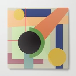 Abstract geometric composition study- Space Metal Print