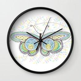 Ornamental Butterfly Wall Clock