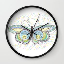 Ornamental Butterfly Wall Clock