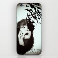 bats iPhone & iPod Skins featuring Bats by Nuria Mrtz. FotoArt