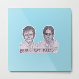 FACT: BEARS EAT BEETS Metal Print