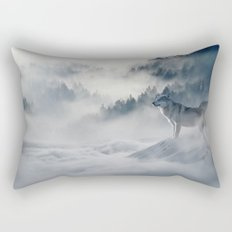 Winter of the Wolves Rectangular Pillow