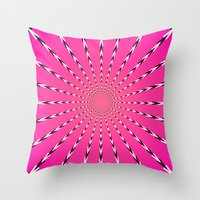 artpop Throw Pillows featuring ARTPOP by Jo Veronne