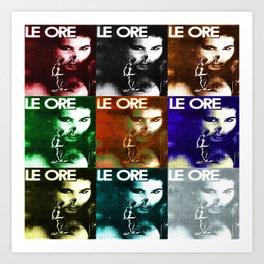LE ORE 9x Art Print
