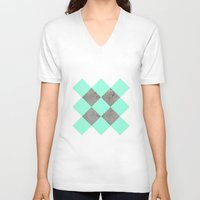 concrete V-neck T-shirts featuring Sea on Concrete by cafelab