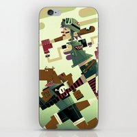 tank girl iPhone & iPod Skins featuring Tank Girl by Gabriela Zurda