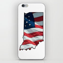 Patriotic Indiana iPhone Skin