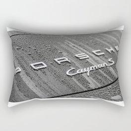 Porsche CaymanS and Rain Rectangular Pillow