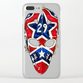 Palmateer - Mask 1 Clear iPhone Case