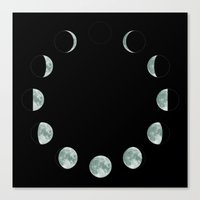 moon phases Canvas Prints featuring Moon phases by ShaMiLa