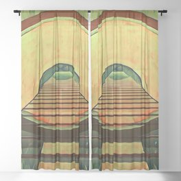 2001: A Space Odyssey Sheer Curtain