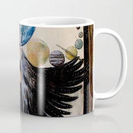 Between the Worlds // Visionary Art Woman Goddess Feminine Earth Moon Planets Stars Coffee Mug