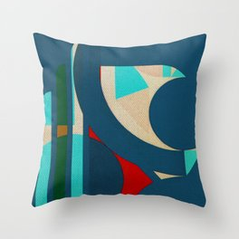 A Lion in the Moonlight Throw Pillow
