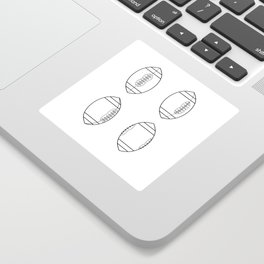 American Football Ball Spinning Sequence Drawing Sticker
