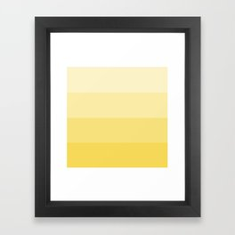 Four Shades of Yellow Framed Art Print