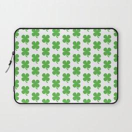 Lucky Irish Four Leaf Clovers Pattern Laptop Sleeve