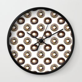 Donut Polka Dot Pattern Wall Clock