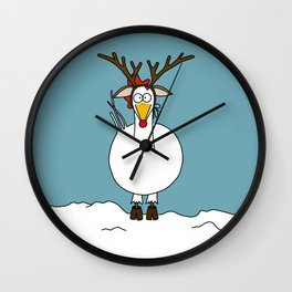Eglantine la poule (the hen) dressed up as a reindeer. Wall Clock