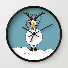 Eglantine la poule (the hen) dressed up as a reindeer. Wall Clock