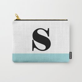Monogram Letter S-Pantone-Limpet Shell Carry-All Pouch