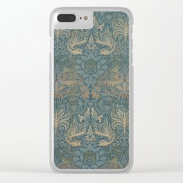 William Morris - Peacock and Dragon, 1878 Clear iPhone Case