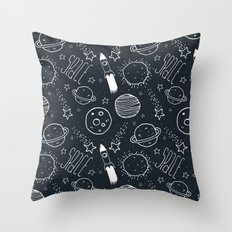 Space Doodles Throw Pillow