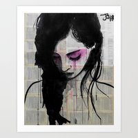cherry Art Prints featuring cherry by LouiJoverArt