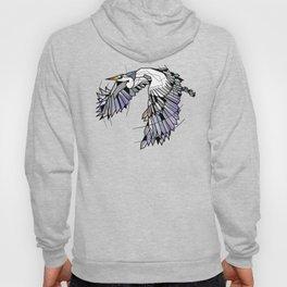 Heron Geometric Bird Hoody