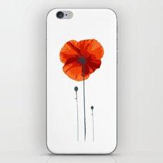 Poppy poppy poppy iPhone & iPod Skin
