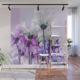 Purple Lavender Flowers Wall Mural