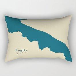 Modern Map - Puglia region Italy Rectangular Pillow