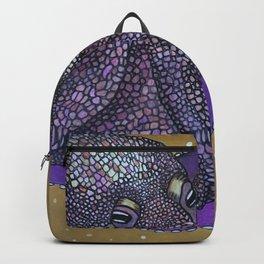 Purple Mosaic Octopus Backpack