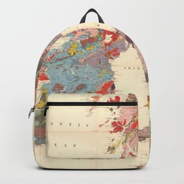 Vintage Geological Map of The British Isles (1912) Backpack