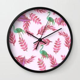 Flamingo rose Wall Clock